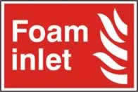Foam inlet sign 1mm rigid PVC self-adhesive backing 300 x 200mm