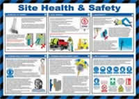 Safety Poster - Site health and safety - LAM 590 x 420mm