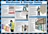 Safety poster - Warehouse and storage safety - LAM 590 x 420mm