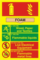 Fire extinguisher composite - Foam - PHO 200 x 300mm made from Foam