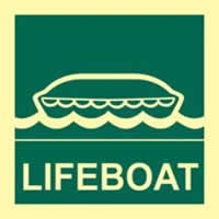 Lifeboat - PHS 150 x 150mm Photoluminescent s/a label