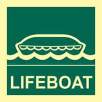 Lifeboat - Photoluminescent 150 x 150mm