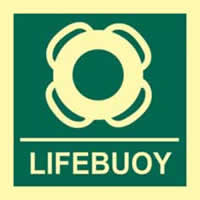 Lifebuoy - Photoluminescent 150 x 150mm