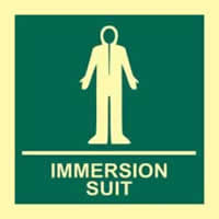 Immersion suit - PHS 150 x 150mm Photoluminescent s/a label
