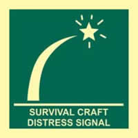 Survival craft distress signal - PHS 150 x 150mm