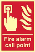 Fire alarm call point - PHS 200 x 300mm