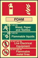 Fire extinguisher composite - Foam - PHS 200 x 300mm made from Foam
