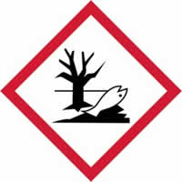 GHS Environmentally damaging symbol - s/a vinyl - 50 x 50 mm label made from self-adhesive vinyl