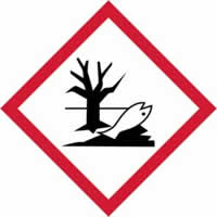 GHS Environmentally damaging symbol - s/a vinyl - 100 x 100 mm label made from self-adhesive vinyl