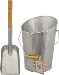 Galvanised Bucket and Shovel