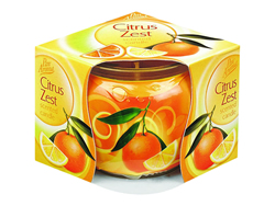 Citrus Zest Sleeved Candle Plaese note new scent.