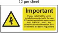 Important - Additions Must Comply - s/a vinyl - 95 x 45mm sheet of 12 labels label made from self-adhesive vinyl