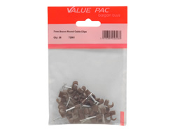 7 mm Brown Round Cable Clips
