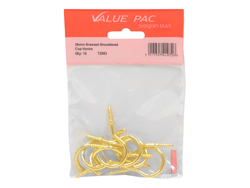 38 mm Electro Brass Shouldered Cup Hooks