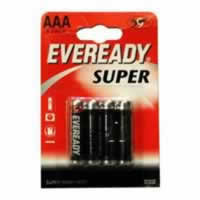 S3927 AAA Eveready Super Zinc Batteries card of 4