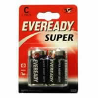 S3952 C Eveready Super Zinc Batteries card of 2