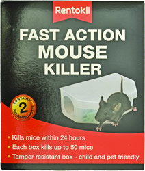 PSF135 Fast Action Mouse Killer Twin pack