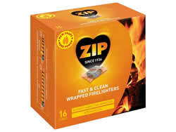 Zip Energy Wrapped Firelighters 16 Packet DGPlease note new Packet size