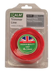 SL018 3 mm x 15 metres Red Trimmer Line