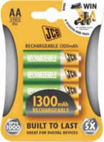 AA JCB 2650 mAh Rechargeable Batteries 4 pack
