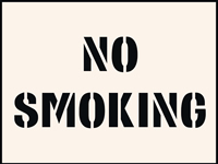 No Smoking Stencil 400 x 600 mm