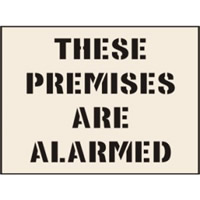 These Premises Are Alarmed Stencil 600 x 800mm