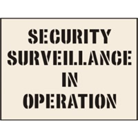 Security Surveillance In Operation Stencil 190 x 300mm