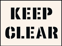 Keep Clear Stencil 300 x 400 mm