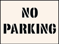No Parking Stencil 190 x 300 mm