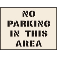 No Parking In This Area Stencil 600 x 800 mm