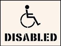 Disabled Stencil 300 x 400 mm