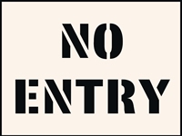 No Entry Stencil 190 x 300mm