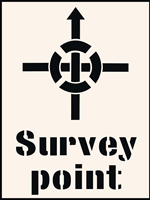 Survey Point Stencil 190 x 300mm