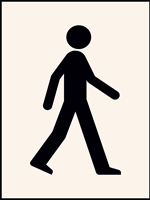 Walking Man Stencil 190 x 300 mm