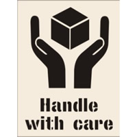 Handle with Care Stencil 300 x 400 mm
