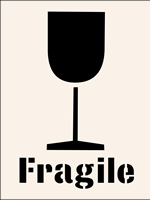 Fragile Stencil 190 x 300mm