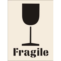 Fragile Stencil 400 x 600mm