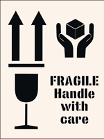 Fragile Handle With Care Stencil 190 x 300mm