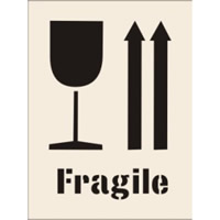 Fragile c / w Arrows Up and Glass Stencil 600 x 800 mm