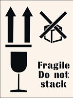 Fragile do not stack Stencil 400 x 600mm