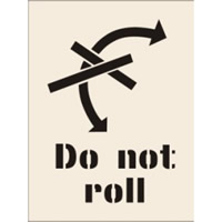 Do Not Roll Stencil 190 x 300mm