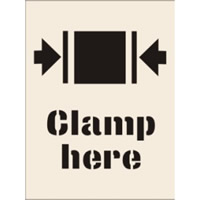 Clamp Here Stencil 400 x 600mm