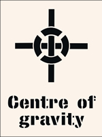 Centre of Gravity Stencil 600 x 800mm