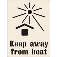 Keep Away From Heat Stencil 190 x 300mm