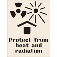 Protect from Heat and Radiation Stencil 300 x 400mm