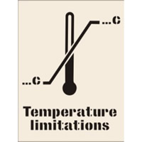Temperature Limitations Stencil 400 x 600mm