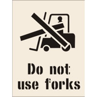 Do Not Use Forks Stencil 400 x 600mm