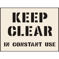 Keep Clear In Constant Use 190 x 300mm