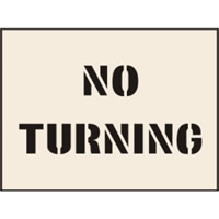 No Turning Stencil 300 x 400mm