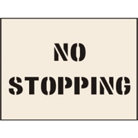 No Stopping Stencil 600 x 800mm